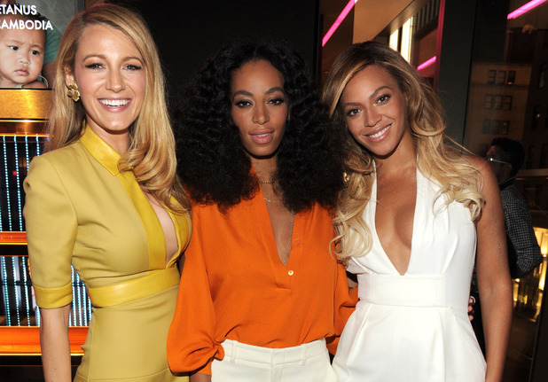 Beyonce & Solange Knowles appear together at the Chime for Change one-year anniversary event