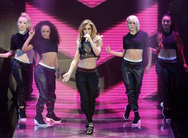 Cheryl Cole performs on the Britain's Got Talent final