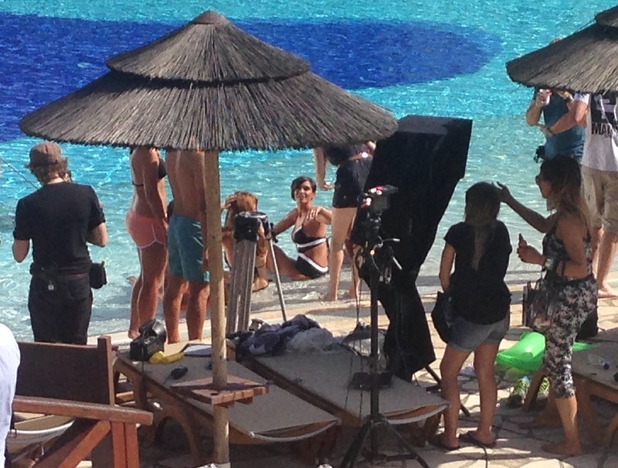 The Saturdays shoot their new video in Greece