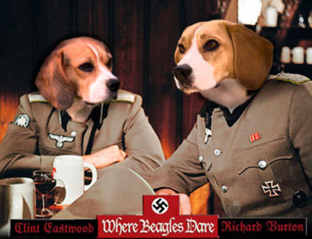 Dogs make movie posters better: Where Eagles Dare
