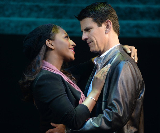 Alexandra Burke & Tristan Gemmill in The Bodyguard at The Adelphi Theatre