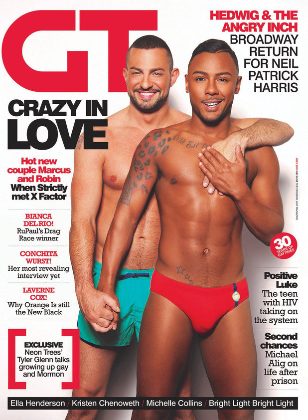 Marcus Collins & Robin Windsor pose together for Gay Times