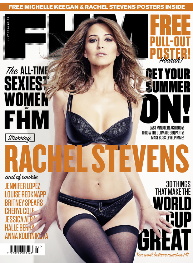 Rachel Stevens on the cover of FHM magazine