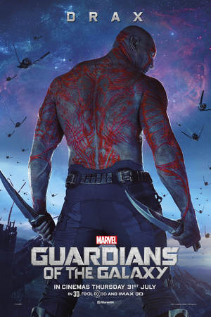 Drax Guardians of the Galaxy poster