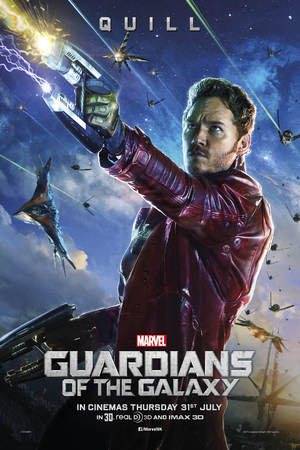 Chris Pratt in Guardians of the Galaxy poster