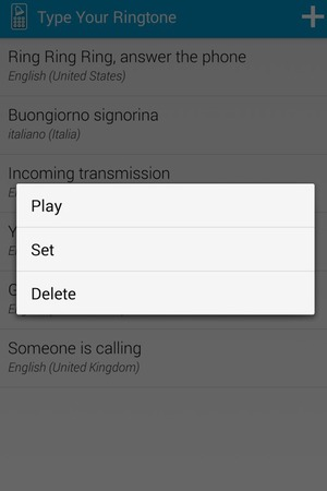 Type Your Ringtone