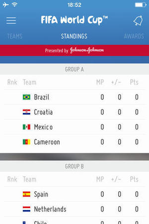 FIFA Official World Cup App