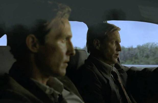 Matthew McConaughey and Woody Harrelson in True Detective episode 1