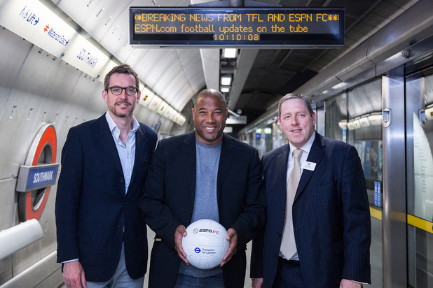 John Barnes, Alan Fagan and Nigel Holness: launch the joint ESPN FC and TfL initiative