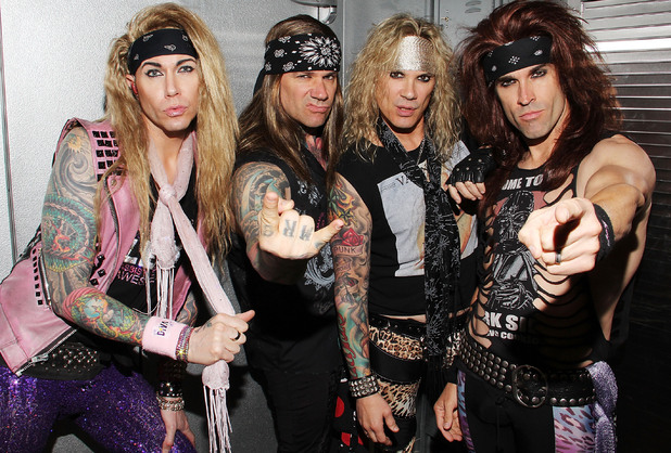 Lexxi Foxx, Stix Zadinia, Michael Starr and Satchel of Steel Panther