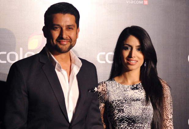 Aftab Shivdasani and Nin Dusanj attend the Colors IAA Awards