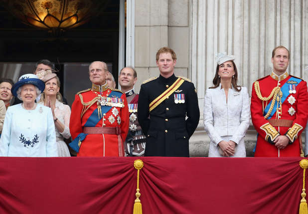 The Royal Family on the balcony during Trooping the Colour