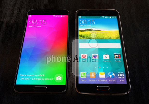 Purported photo of the Samsung Galaxy F handset