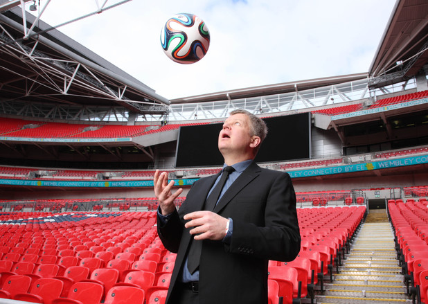 Adrian Chiles hosting ITV's World Cup coverage
