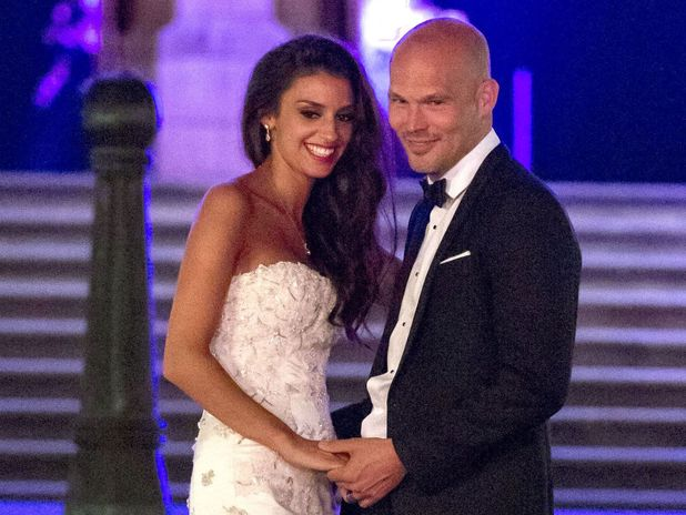 Fredrik Ljungberg and Natalie Foster get married at the Natural History Museum in London