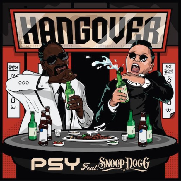Psy and Snoop Dogg 'Hangover' artwork