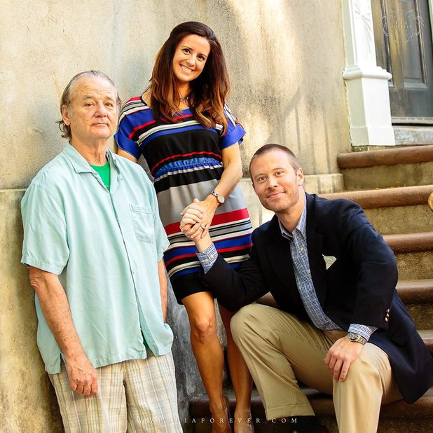 Bill Murray crashes a couple's engagement shoot