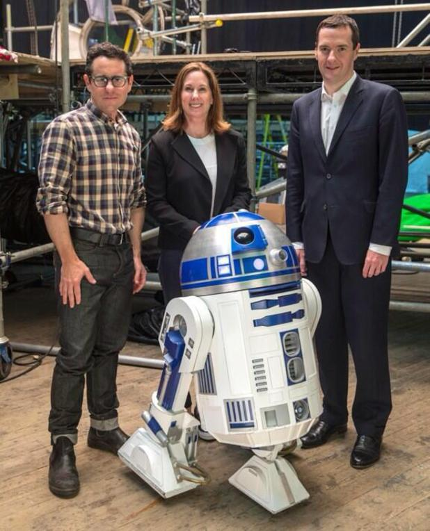 George Osborne meets Star Wars' JJ Abrams and R2-D2