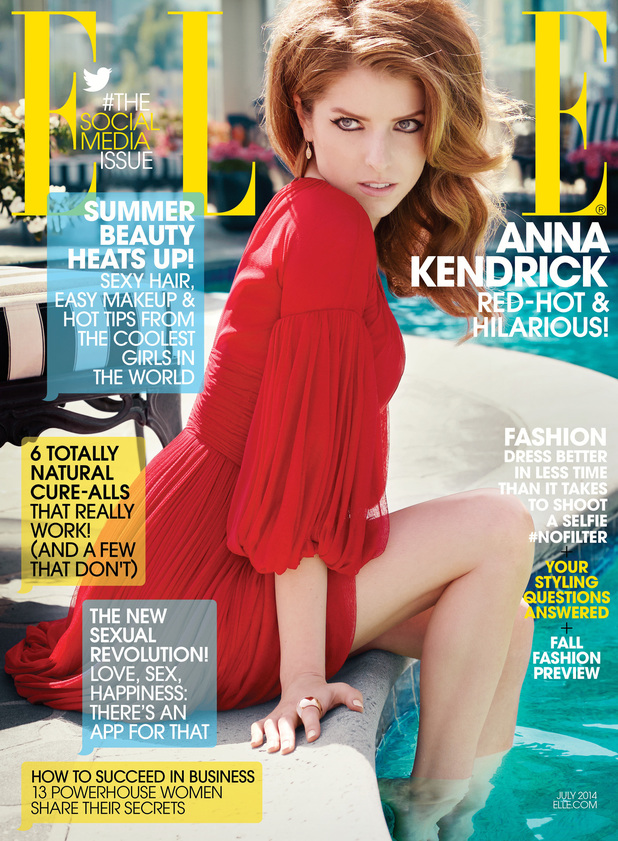 Anna Kendrick in the July issue of Elle magazine