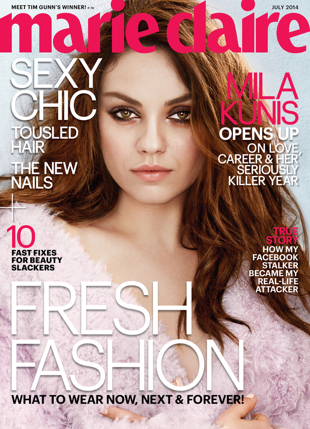 MIla Kunis covers the July issue of Marie Claire