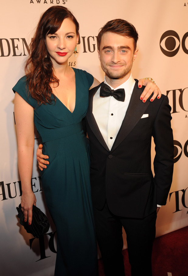 Erin Darke and Daniel Radcliffe arriving at the 68th Annual Tony Awards 2014