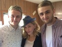 The singer posts a picture of herself with the British production duo.