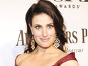 Idina Menzel arriving at the 68th Annual Tony Awards 2014