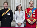 Prince Harry and Princess Eugenie also attend celebration of Queen's birthday.