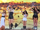 Girl group are to perform at the game between Atlanta Falcons and Detroit Lions.