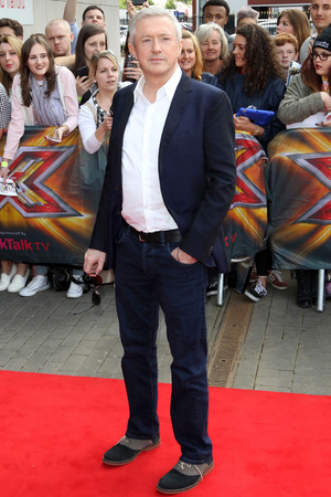 Louis Walsh arriving at The X Factor auditions in Manchester