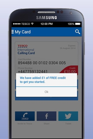 Tesco Calling Card for Android
