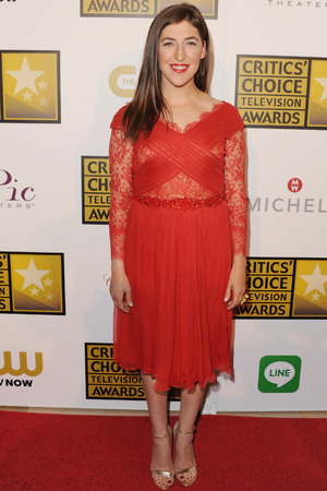 Mayim Bialik arrives at the 4th Annual Critics' Choice Television Awards