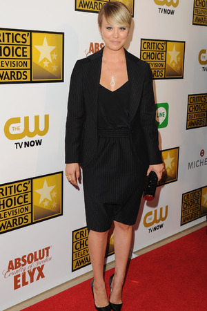 Kaley Cuoco arrives at the 4th Annual Critics' Choice Television Awards