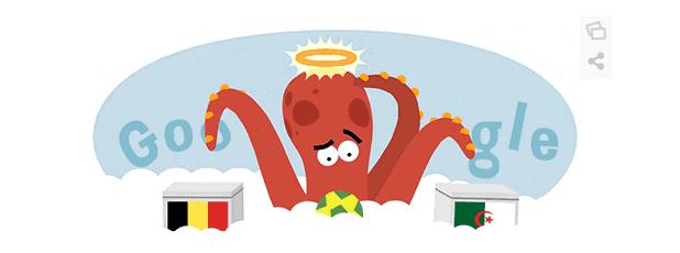 Paul the Octopus Google Doodle