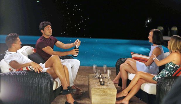 'The Only Way Is Essex' cast at the 'boys villa', Marbella, Spain - Jun 2014 Lewis Bloor naked in the swimming pool, Imogen Leaver, Robyn Althasen, Tom Pearce 11 Jun 2014