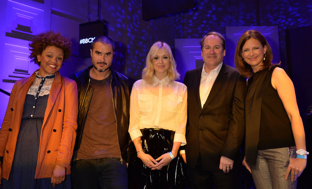 Gemma Cairney, Zane Lowe, Fearne Cotton, Bob Shennan & Katie Derham at the BBC Music press launch