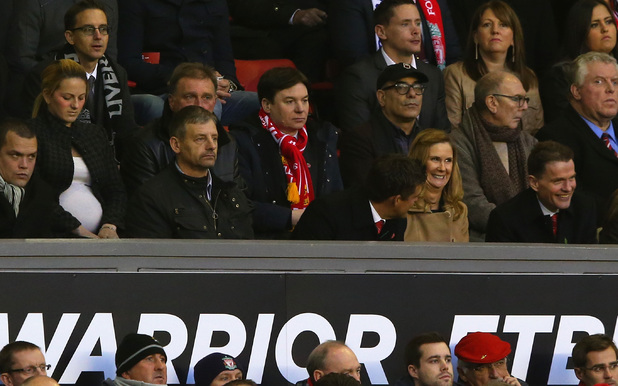 LIVERPOOL, ENGLAND - NOVEMBER 09: Actor Mike Myers looks on from the stands during the Barclays Premier League match between Liverpool and Fulham at Anfield on November 9, 2013 in Liverpool, England. (Photo by Alex Livesey/Getty Images)