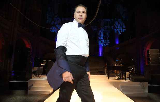 David Walliams at the One For The Boys Fashion Ball at the Natural History Museum, London