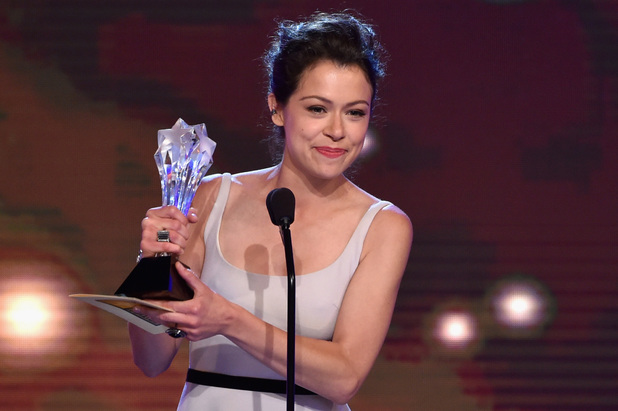 Tatiana Maslany accepts the Best Actress in a Drama Series award for 'Orphan Black' onstage during the 4th Annual Critics' Choice Television Awards