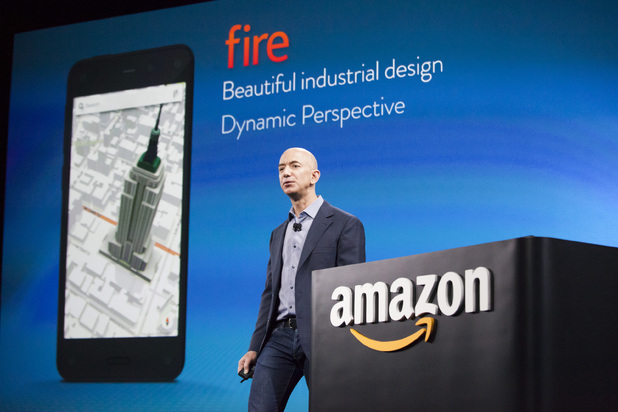 Jeff Bezos presents Amazon's first smartphone, the Fire Phone