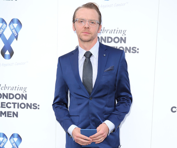 Simon Pegg at The London Collections: Men