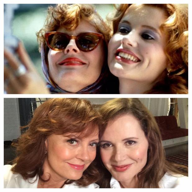Susan Sarandon posts a Thelma and Louise selfie on Twitter