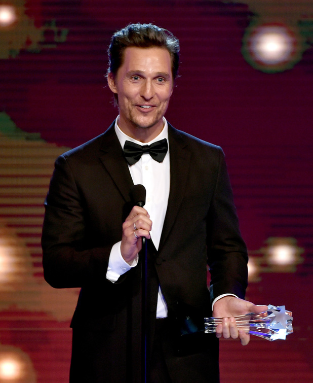 Matthew McConaughey accepts the Best Actor in a Drama Series award for 'True Detective' onstage during the 4th Annual Critics' Choice Television Awards