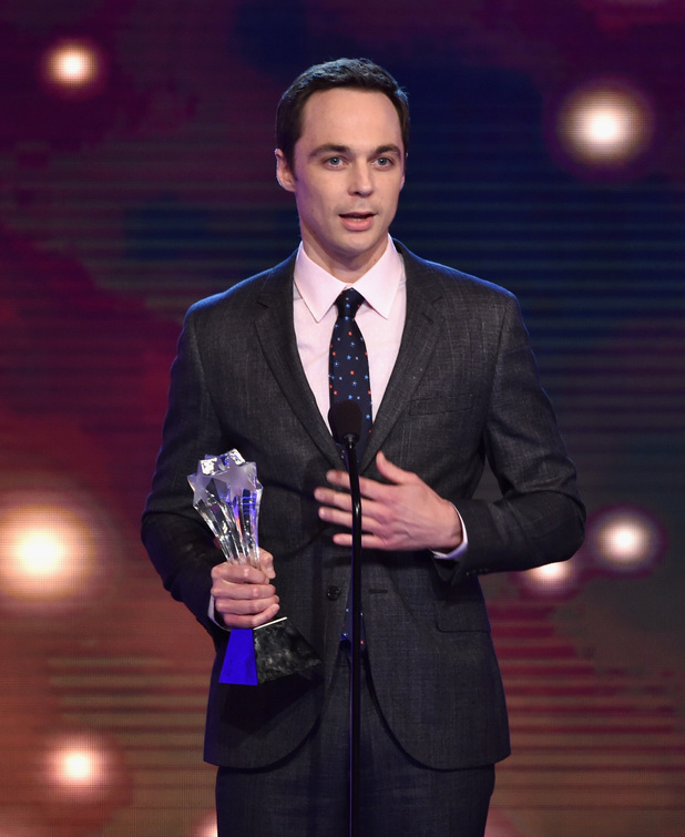 Jim Parsons accepts the award for Best Actor in a Comedy Series for 'The Big Bang Theory' onstage during the 4th Annual Critics' Choice Television Awards