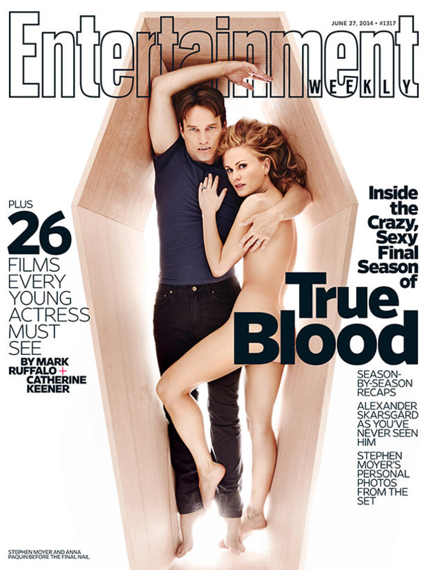 Stephen Moyer & Anna Paquin on the cover of Entertainment Weekly