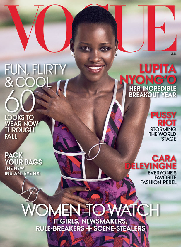 Lupita Nyong'o covers the July 2014 issue of Vogue