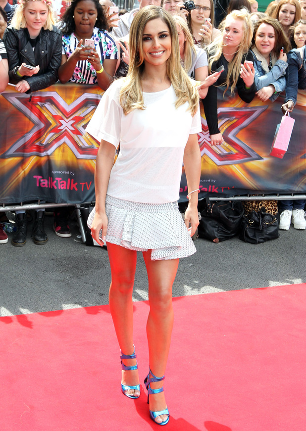 Cheryl Cole arriving at The X Factor auditions in Manchester