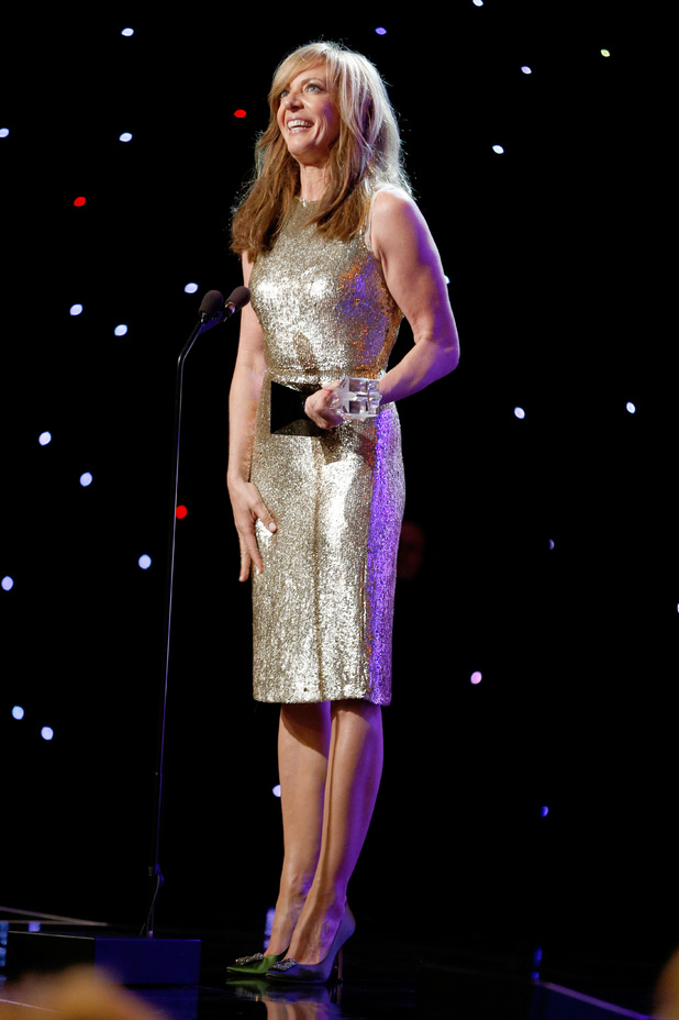 Allison Janney accepts the award for Best Supporting Actress in a Comedy Series onstage during the 4th Annual Critics' Choice Television Awards