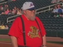 Watch as Martin throws disappointing first pitch at Albuquerque Isotopes game.