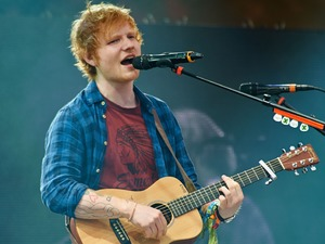 Ed Sheeran takes to the stage